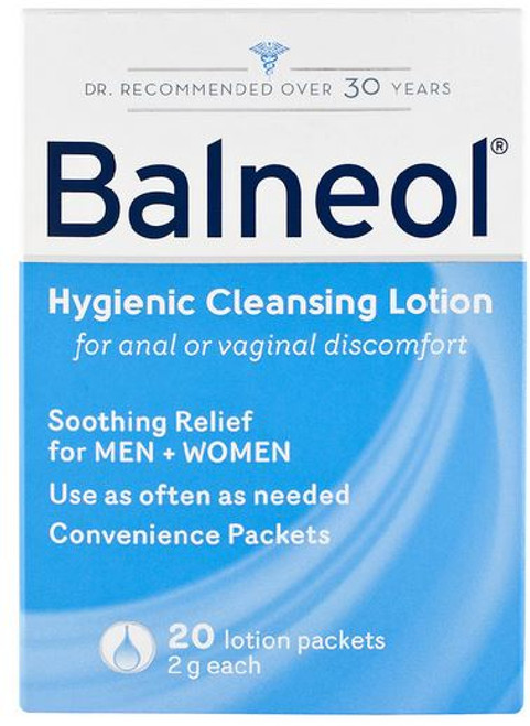 Balneol Hygienic Cleansing Lotion Packets, 20 CT