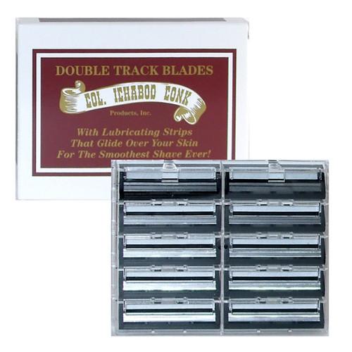 Colonel Ichabod Conk Double Track Razor Refill Cartridges, (Fits All Trac II Razors), 10 ct, 1 Ea