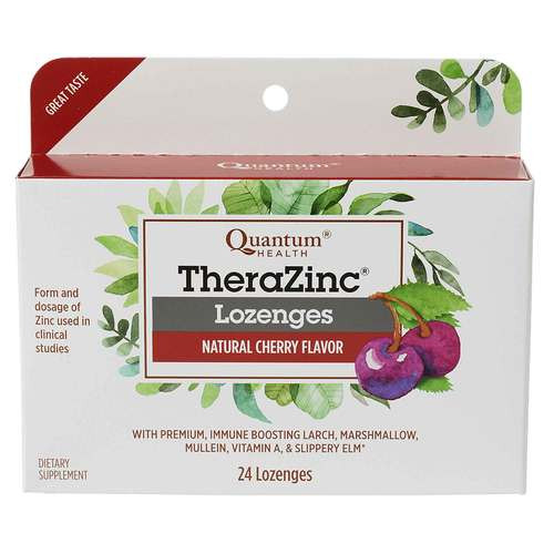Quantum Health Thera Zinc Lozengers, Cherry, 24 ct