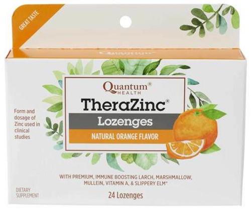 Quantum Health Thera Zinc Lozengers, Orange, 24 ct