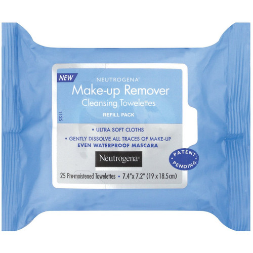 Neutrogena Make-up Remover Cleansing Towelettes Refills, 25 ct