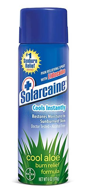 Solarcaine Cool Aloe Burn Relief Spray with Lidocaine, 6 OZ