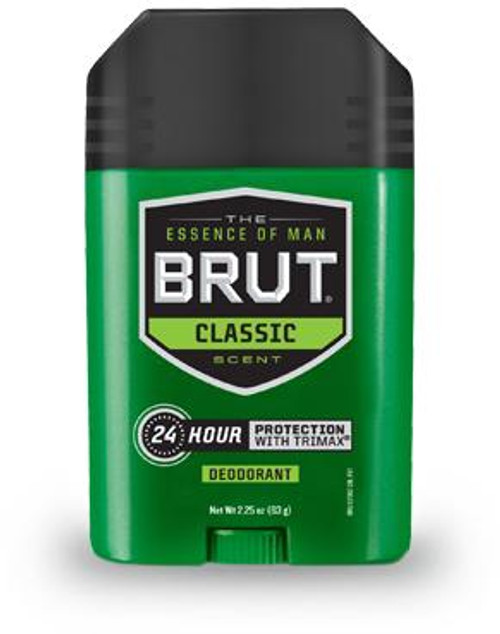 Brut Classic 24-Hr Protection Deodorant Stick, 2.25 oz
