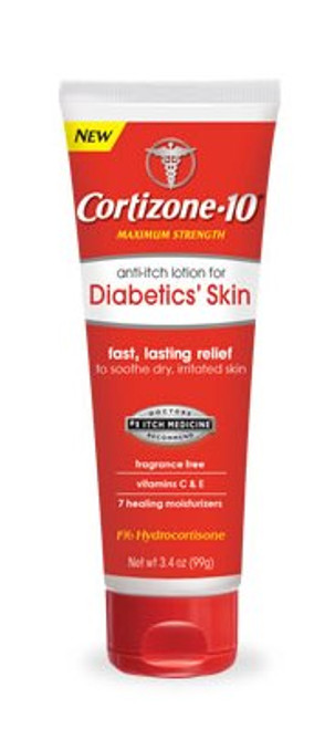 Cortizone 10 Maximum Strength Anti-Itch Lotion for Diabetics' Skin, 3.4 oz, 1 Ea