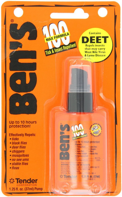 Bens Max Formula Tick & Insect Repellent Non-Aerosol Spray, 1.25 oz
