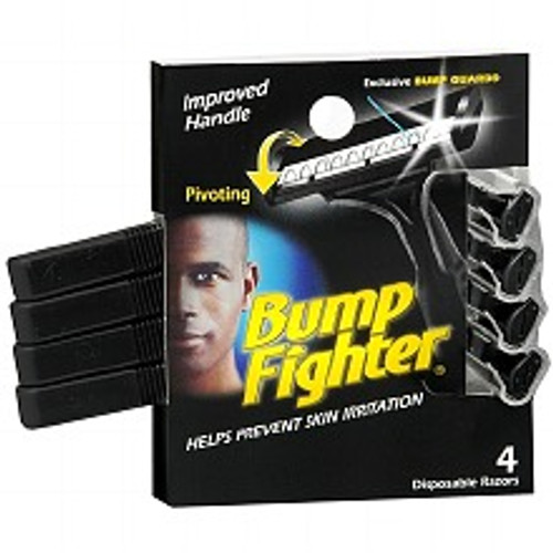 Bump Fighter for Men Disposable Razors, 4 ct