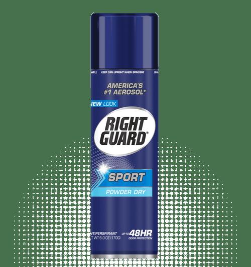 Right Guard Sport Antiperspirant & Deodorant Aerosol Spray, Powder Dry, 6 oz, 1 Ea