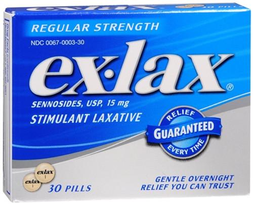 Exlax Regular Strength Stimulant Laxatives, Chocolate, 48 ct