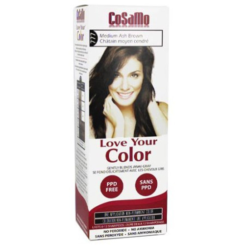 Cosamo Love Your Color Hair Color,  #777 Medium Ash Brown (Comparable To Loving Care)