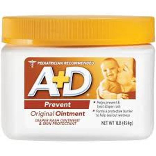 A & D Original Ointment, Diaper Rash & All Purpose Skin Protectant, 1 lb , 1 Ea