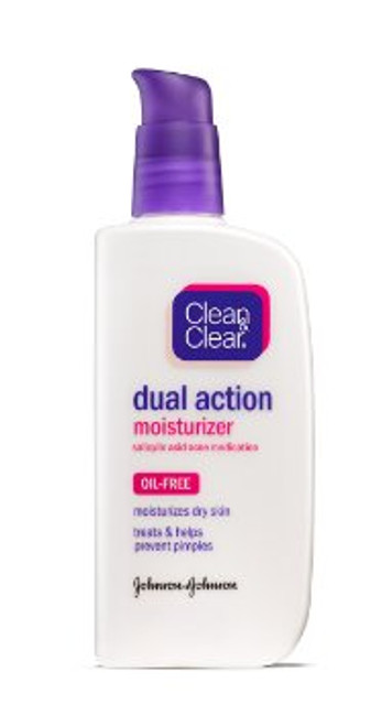 Clean & Clear Dual Action Moisturizer, 4 oz