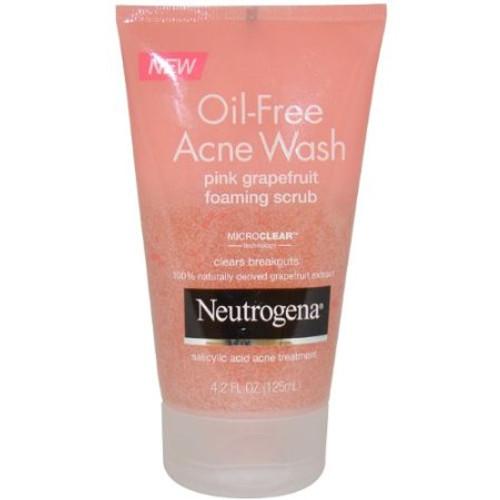 Neutrogena Oil-Free Acne Wash Pink Grapefruit Foaming Scrub, 4.2 oz