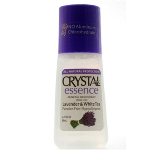 Crystal Essence Mineral Deodorant Roll-On, Lavender & White Tea, 2.25 oz, 1 Ea