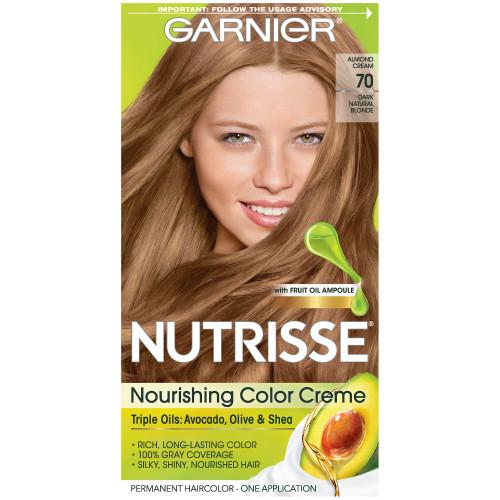 Garnier Nutrisse Nourishing Color Creme Permanent Haircolor Kit, 70 Dark Natural Blonde