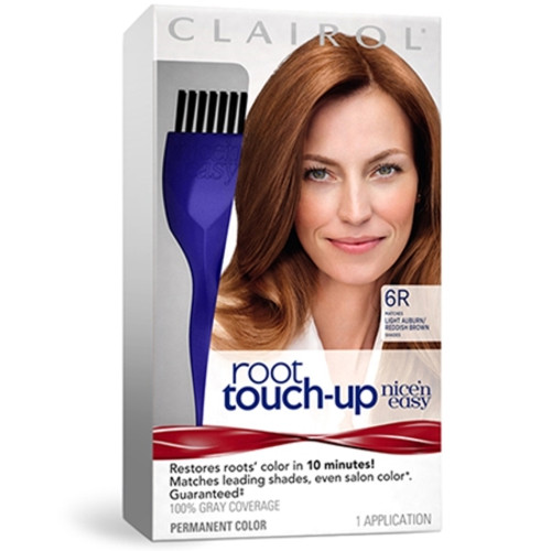 Clairol Nice 'N Easy Root Touch Up Hair Color Kit, #6R Light Aubrun, 1 Ea