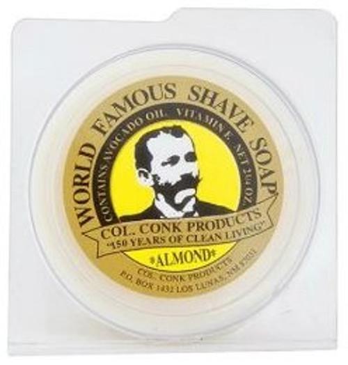Col. Conk World Famous Glycerin Shave Soap, Almond, 2.25 oz, 1 Ea