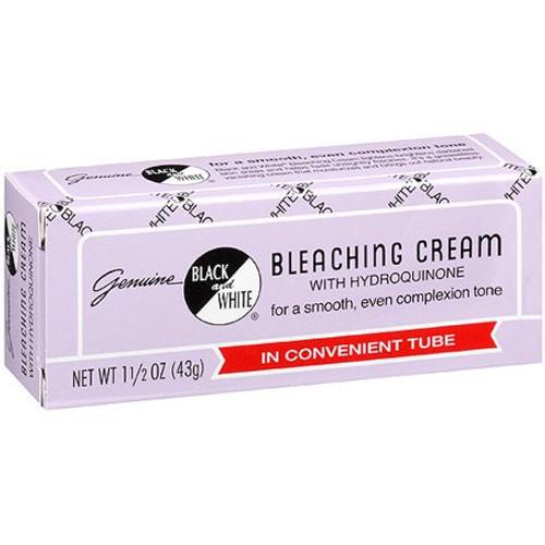 Black & White Bleaching Cream with Hydroquinone, 1-1/2 oz