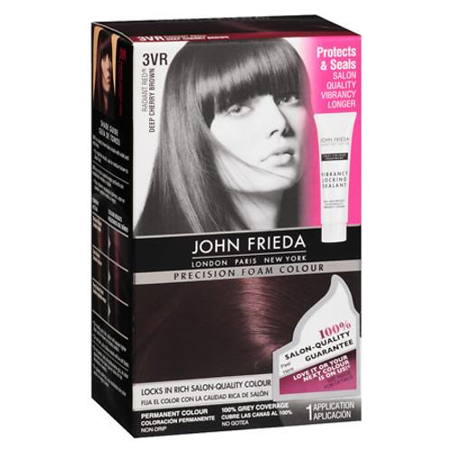 John Frieda Precision Foam Permanent Colour Kit,  3VR Deep Cherry Brown