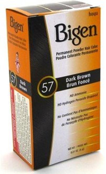 Bigen Permanent Powder Hair Color Kit, #57 Dark Brown, 0.21 oz