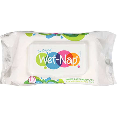 Wet-Nap Hands & Face Cleansing Wipes, 110 CT