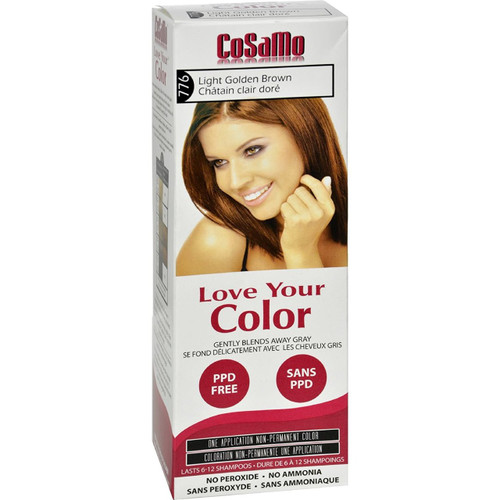 Cosamo Love Your Color Hair Color, #776 Light Golden Brown (Comparable To Loving Care)