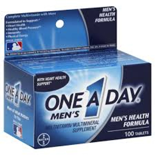 One A Day Men's Multivitamin & Mineral Supplement Tablets, 100 ct, 1 Ea