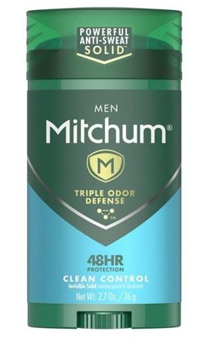 Mitchum Men Invisible Solid Anti-Perspirant & Deodorant Stick, Clean Control, 2.7 oz