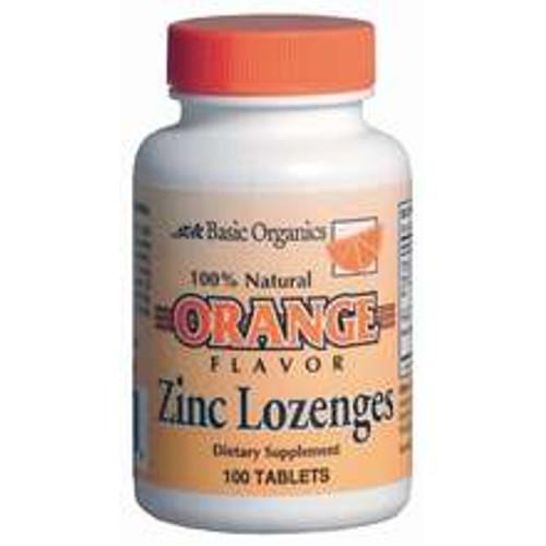 Basic Organics Zinc Lozengers, Orange, 100 ct