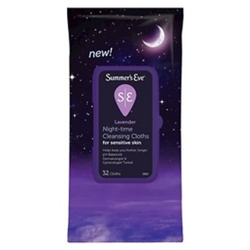 Summer's Eve Night-Time Cleansing Cloths, Lavender, 32 ct, 1 Ea