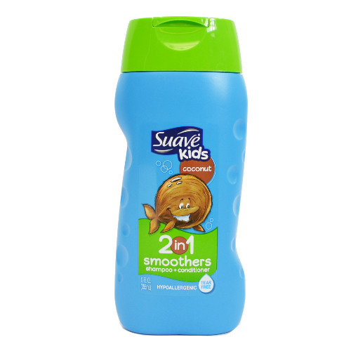 Suave Kids 2-In-1 Coconut Smoothers Shampoo & Conditoner, 12 oz, 1 Ea