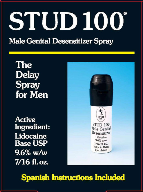 Stud 100 The Delay Spray for Men, 7/16 oz