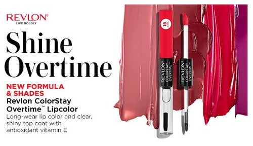 Revlon Colorstay Overtime 16 Hours Lipcolor with Clear Shine Topcoat