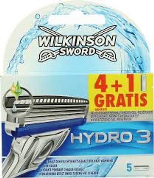 Wilkinson Sword Hydro 3-Blade Razor Refill Cartridge, 4 ct, 1 Ea