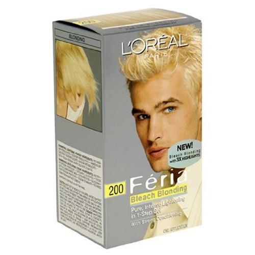 L'Oreal Paris Feria Bleach Blonding Pure Intense Lightening Shimmering Colour Kit, 200 Bleach Blonde