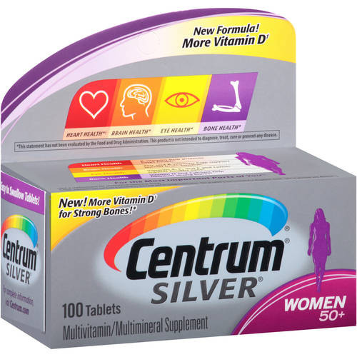 Centrum Silver Women 50+ Multivitamin + Mineral Tablets, 100 ct, 1 Ea