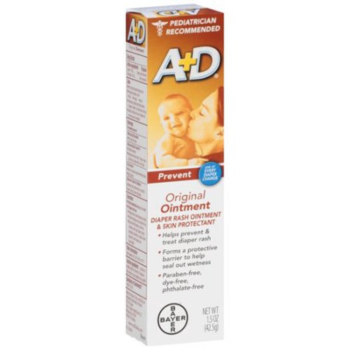 A & D Original Ointment, Diaper Rash & All Purpose Skin Protectant, 1.5 Oz, 1 Ea