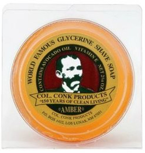 Col. Conk World Famous Glycerin Shave Soap, Amber, 2.25 oz, 1 Ea
