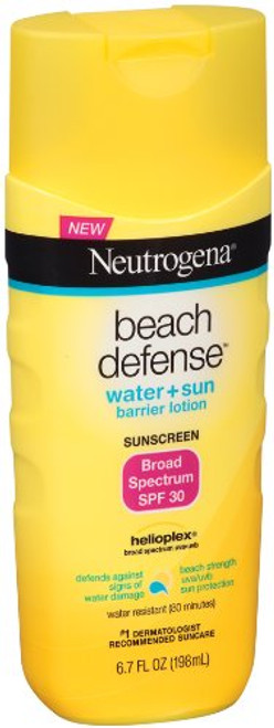 Neutrogena Beach Defense Sunscreen Lotion Broad Spectrum SPF 30, 6.7 oz