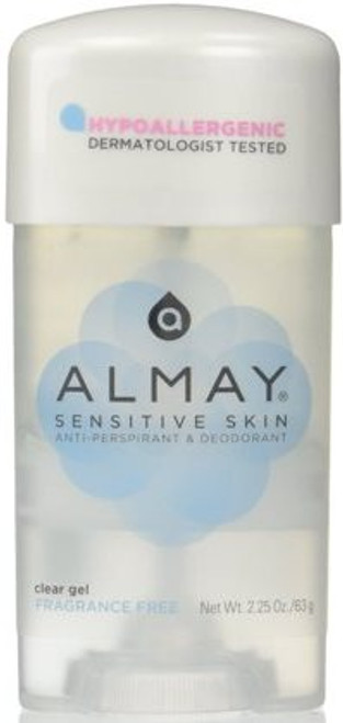 Almay Anti-Perspirant & Deodorant Fragrance Free Clear Gel, 2.25 oz