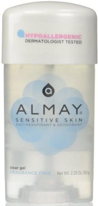 Almay Anti-Perspirant & Deodorant Fragrance Free Clear Gel, 2.25 oz