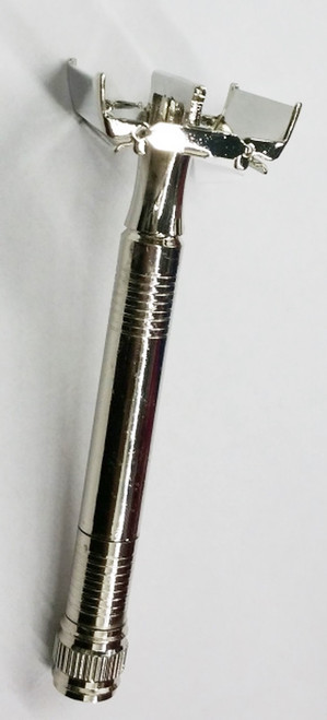 Long Handle Double Edge Heavy Weight, Safety Razor (Fits All Double Edge Blades), Butterfly Mechanism