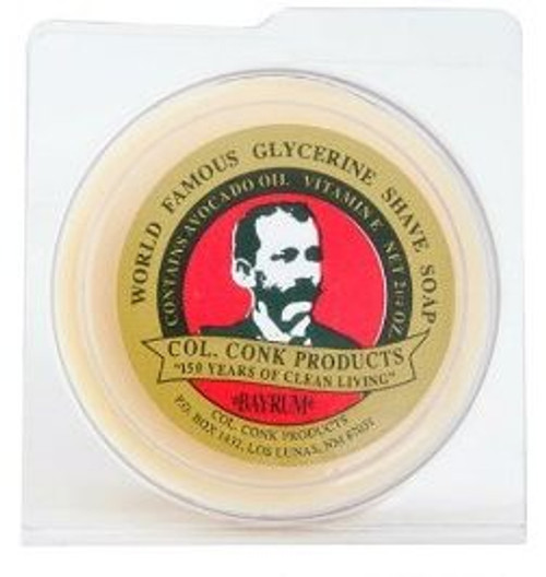 Col. Conk World Famous Glycerin Shave Soap, Bay Rum, 2.25 oz, 1 Ea