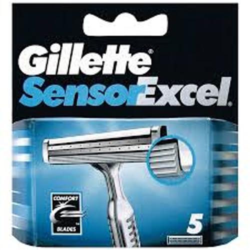 Gillette Sensor Excel Razor Refill Cartridges, 5 ct