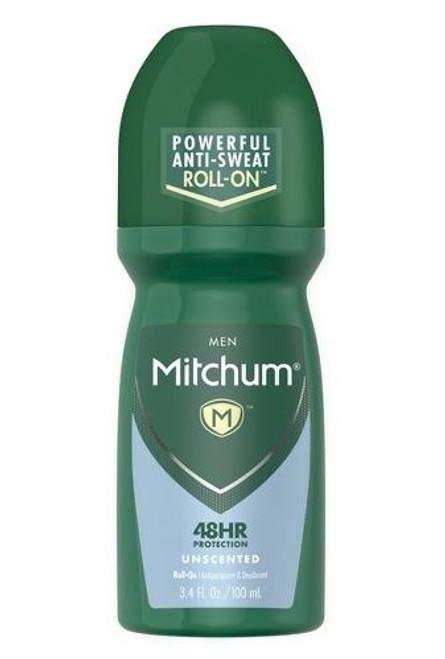 Mitchum Men  Anti-Perspirant & Deodorant Roll-On, Unscented, 3.4 oz