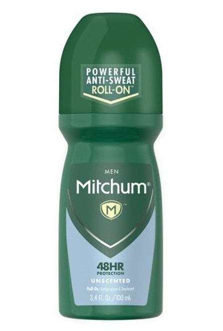 Mitchum Men  Anti-Perspirant & Deodorant Roll-On, Unscented, 3.4 oz