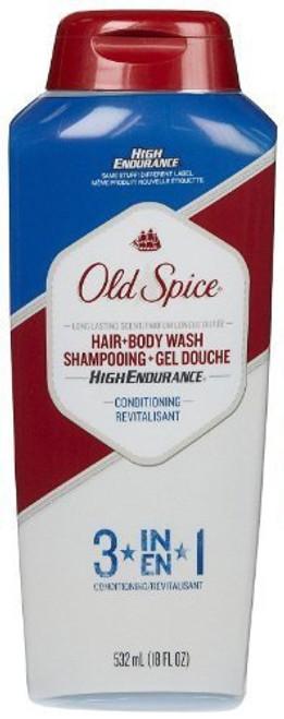 Old Spice High Endurance 3-In-1 Hair & Body Wash, 18 oz, 1 Ea