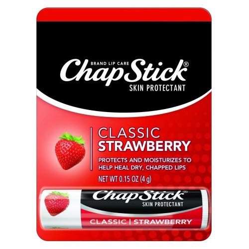 ChapStick Classic Lip Balm, Strawberry, 0.15 oz