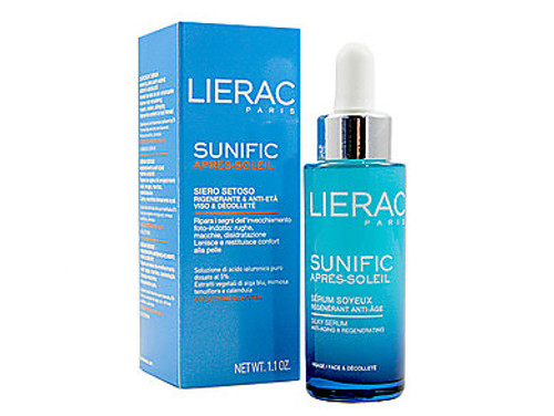 Lierac Paris Sunific Aftersun Silky Serum, Anti-Aging & Regenerating, 1.1 Oz, 1 Ea