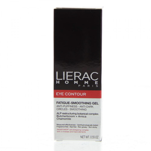 Lierac Homme Paris Eye Contour, Fatigue Smoothing Gel, 0.55 Oz, 1 Ea