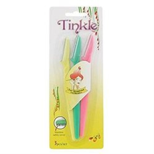 Tinkle Eyebrow Razor 3-Pc Set, Colors May Vary, 1 Ea